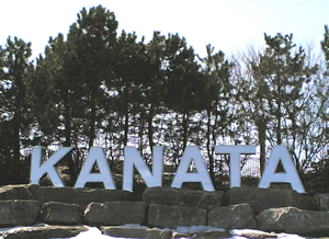 Kanata, Ontario - Three-metre-high sign at Kanata's eastern boundary