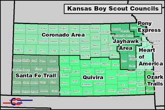 Scouting in Kansas - BSA Councils serving Kansas.