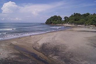 Sukabumi Regency - Image: Karanghawu Beach