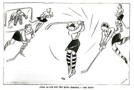 Misogynistic cartoon from the Nazi period in Germany 1941 Karikatur-1941.jpg