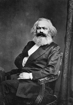 "Anti-capitalism - Karl Marx, one of the ""founding fathers"" of anti-capitalist thought and communism"