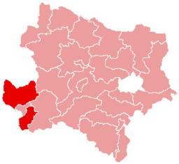 Bezirk Amstetten location map
