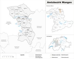 Karte von Amtsbezirk Wangen