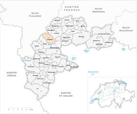 Karte Gemeinde Anetswil 1968