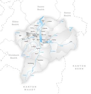 Riaz - Image: Karte Gemeinde Riaz
