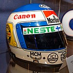 Keke Rosberg helmet 2017 Williams Conference Centre.jpg