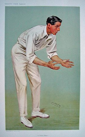 Kent County Cricket Club in 1909 - Kenneth Hutchings who led Kent in County Championship run scoring in 1909