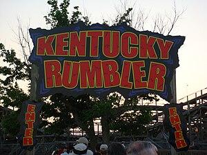Kentucky Rumbler - Ride entrance
