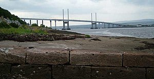 Beauly Firth - The Kessock Bridge is a cable-stayed bridge across the Beauly Firth