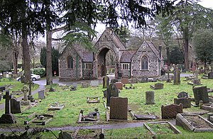 Keynsham - Keynsham Cemetery at Durley Hill, which is built over the remains of the grand Roman villa
