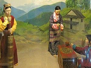 Khamba people - Diorama of Khamba people in Jawaharlal Nehru Museum, Itanagar.