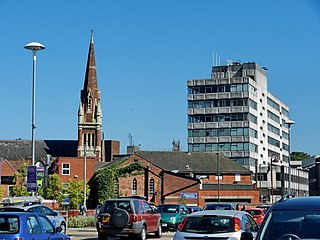 Kidderminster town and civil parish in Wyre Forest, Worcestershire, England