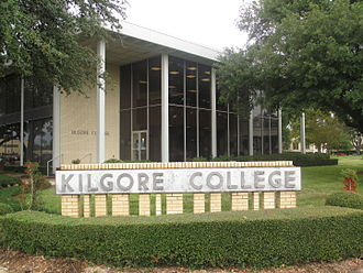 Kilgore College - Image: Kilgore College sign IMG 5901