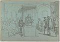 King Christian IV of Denmark Judging Christoffer Rosenkrantz; verso- Don Quixote and Others Attending Master Peter's Puppet Show MET DP838174.jpg