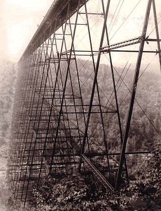 Kinzua Bridge State Park - The original Kinzua bridge shortly after its construction.