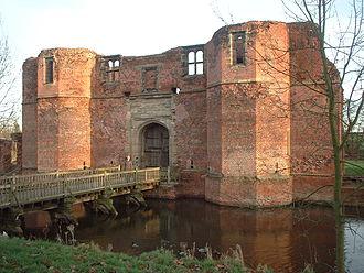 Kirby Muxloe Castle - The exterior of the gatehouse