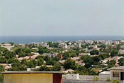 Overview of Kismayo.