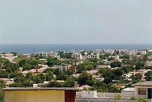 Lower Juba - Overview of Kismayo.