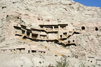 Kizil Caves - Kizil Caves on the edge of the  Tarim Basin.