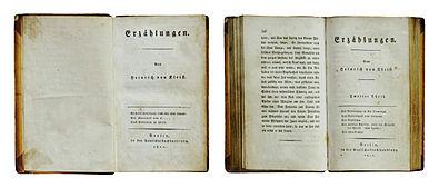 Erzählungen Heinrich von Kleists 1810 und zweiter Teil 1811 im Erstdruck (Quelle: Wikimedia)