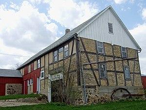 Housebarn - Kliese Housebarn in Emmet, Wisconsin, U.S.A. Built ca. 1850 for Friedrich Kliese, an immigrant from Silesia