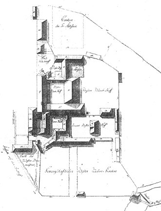 Lüne Abbey - 1800 plan of the monastery site