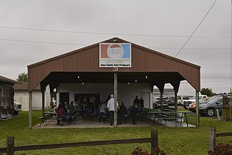 Knoxville, Illinois - Image: Knox County Pork Producers Building, Knox County Fairgrounds