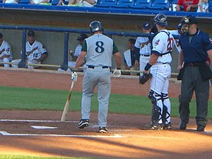 Koby Clemens - Koby Clemens, (8), batting for the Lexington Legends in a June 15, 2006 South Atlantic League game against the Lake County Captains in Eastlake, Ohio.