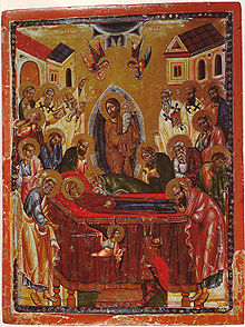 The Dormition of the Theotokos (a thirteenth-century icon)