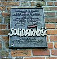 Kolobrzeg 25th anniversary of the Solidarity plaque 2007-04.jpg