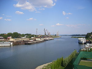 International waters - Komárno in Slovakia is an inland port on the Danube River which is an important international waterway.