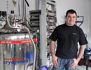 Konstantin Novoselov - Konstantin Novoselov in his lab