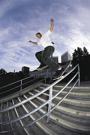 Eric Koston - Koston performing the Fandangle skate trick.