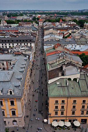 Floriańska Street - Floriańska Street, view from St. Mary's Basilica, Kraków