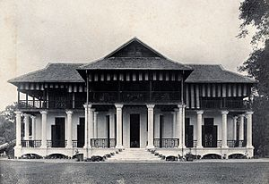 Borneo Company Limited - The Kuching Borneo Company building in 1896.