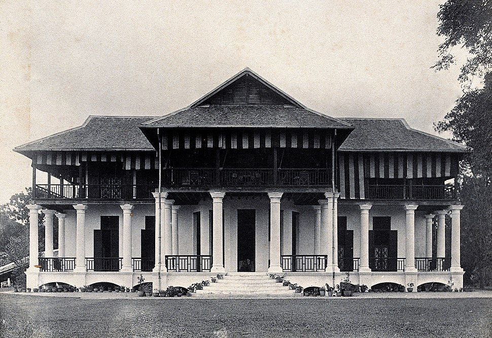 Kuching, Sarawak; the Borneo Company's building. Photograph. Wellcome V0037398