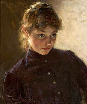 Nikolai Dmitriyevich Kuznetsov (painter) - Image: Kuznetsov Portrait of a young girl