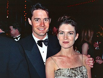Kyle MacLachlan - MacLachlan with actress Lara Flynn Boyle, at the 1990 Emmy Awards