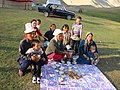 Kyrgyz rural family at Tash Rabat Caravanserai, TianShan Mountains.jpg