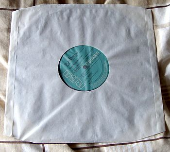 LP in an antistatic Record Dust Sleeve