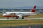 "LTU - Lufttransport-Unternehmen Airbus A320-214 D-ALTC Special ""Bayer 04 Leverkusen"" paint scheme (22786526377).jpg"