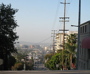 La Cienega Boulevard - Looking south down La Cienega Blvd. from the intersection with Sunset Blvd.