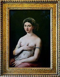 <i>La Fornarina</i> painting by Raphael