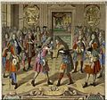 La Reception faite au Roy d'Angleterre par le Roy à St. Germain en Laye le VIIe janvier 1689.jpg