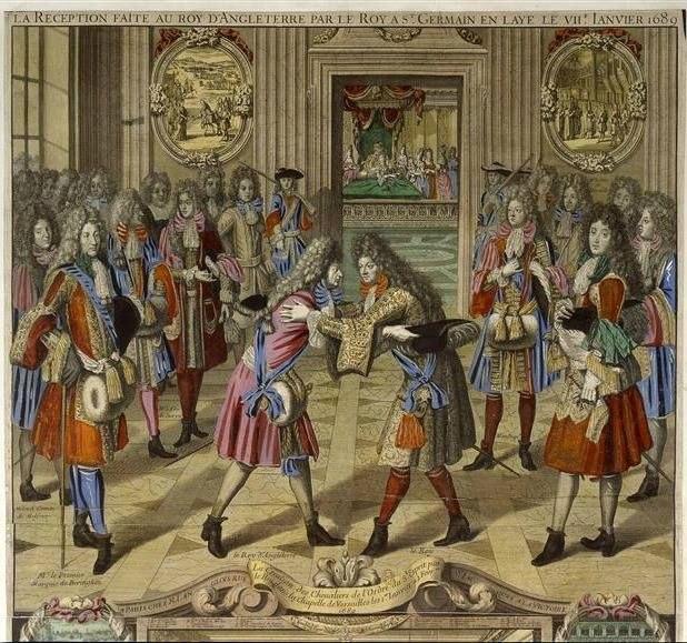 La Reception faite au Roy d%27Angleterre par le Roy %C3%A0 St. Germain en Laye le VIIe janvier 1689