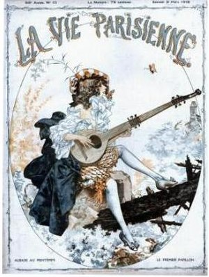 La Vie Parisienne (magazine) - Cover of the French erotic men's magazine La Vie parisienne from 1918