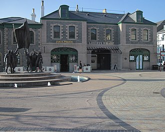 St Helier railway station (Jersey Railway) - The old station building on Liberation Square