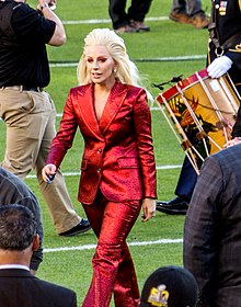 Lady Gaga Super Bowl 50 National anthem.jpg