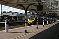 Lady in waiting, an Arriva Cross-Country Voyager service to Newcastle arrives at Durham. - panoramio.jpg