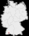 Lage der Stadt Donaueschingen in Deutschland.png